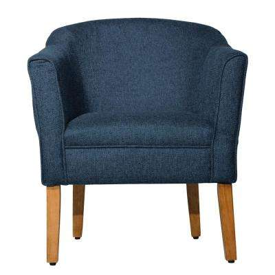 NavyChunky Blue Textured Accent Chair