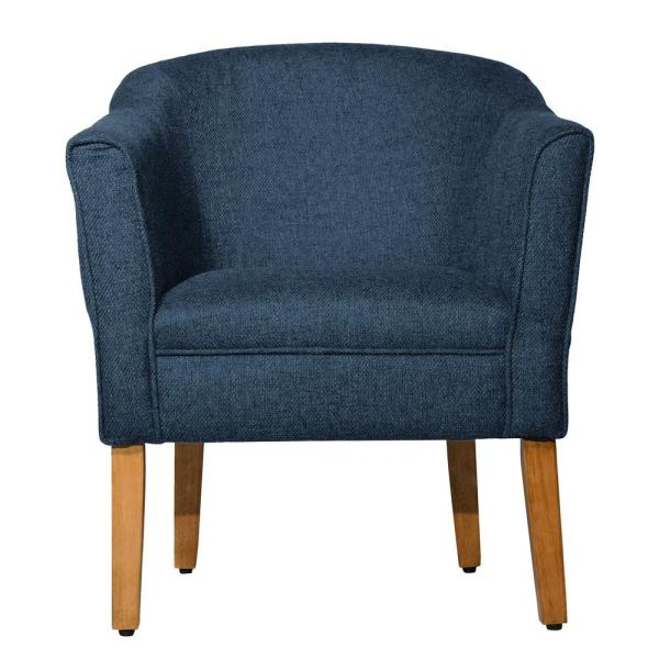 Homepop NavyChunky Blue Textured Accent Chair