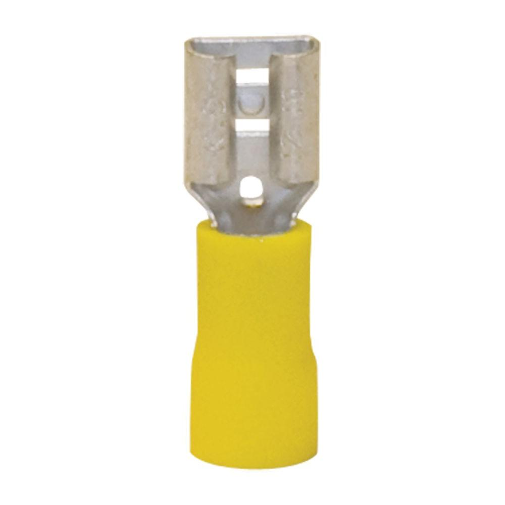 Gardner Bender Yellow 12 - 10 AWG 0.250 F-Disconnects (15-Pack)