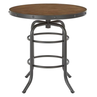 Batson Table with Sandstone Top and Gunmetal Base