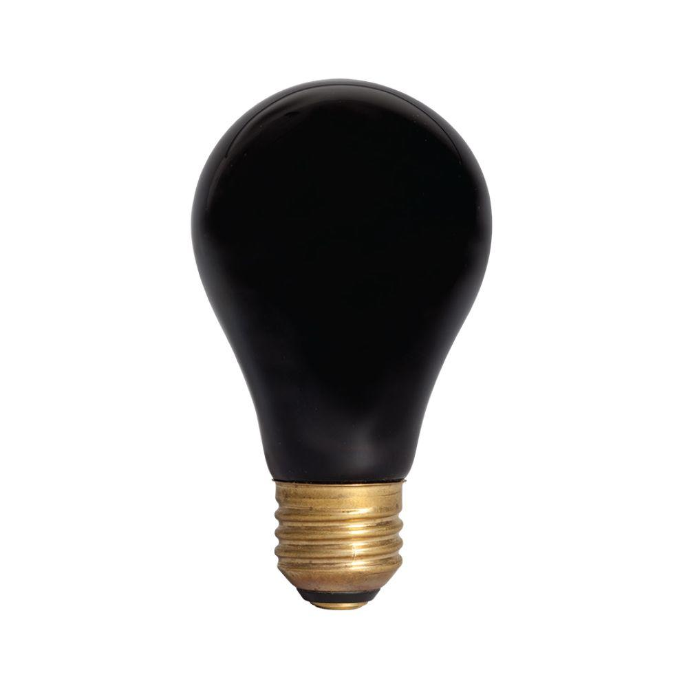 Smart Electric Smart Alert 60-Watt Incandescent A-19 Emergency Flasher Light Bulb - Black