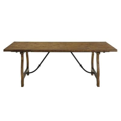 Yuma Distressed Honey And Beige Dining Table