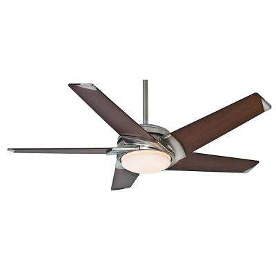 Stealth 54 in. Indoor Brushed Nickel Ceiling Fan with Universal Wall Control
