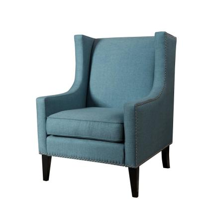 Blue Polyester Accent Chair
