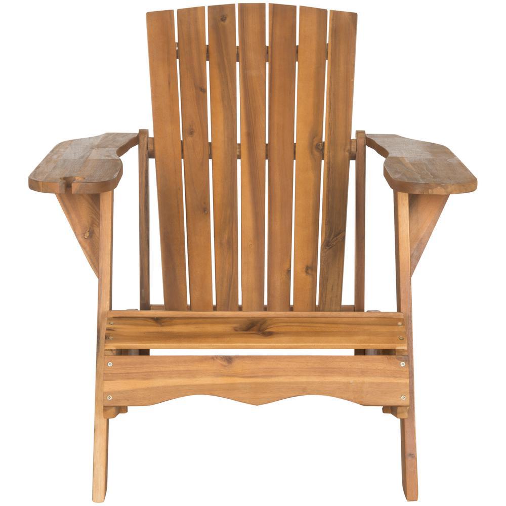 Safavieh Vista Natural Brown Wood Adirondack Chair
