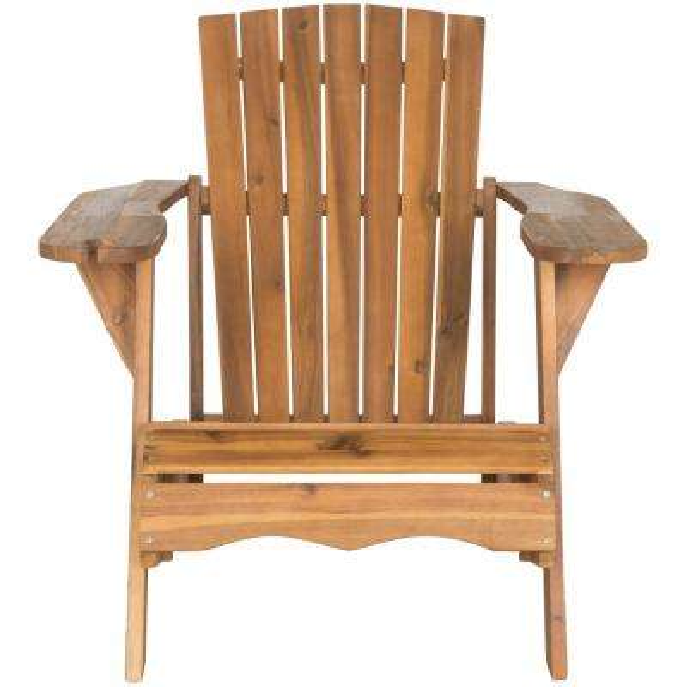 Vista Natural Brown Wood Adirondack Chair