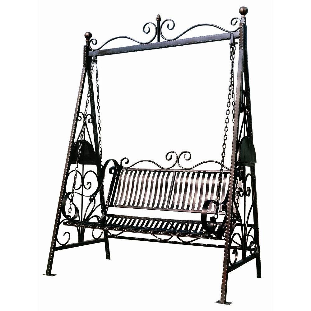 Design Toscano 59.5 In. W x 34 In. D x 82.5 In. H Rockaway Garden Swing-DISCONTINUED