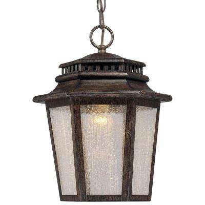 Wickford Bay LED Wickford Bay 1-Light Iron Oxide Outdoor LED Chain Hung
