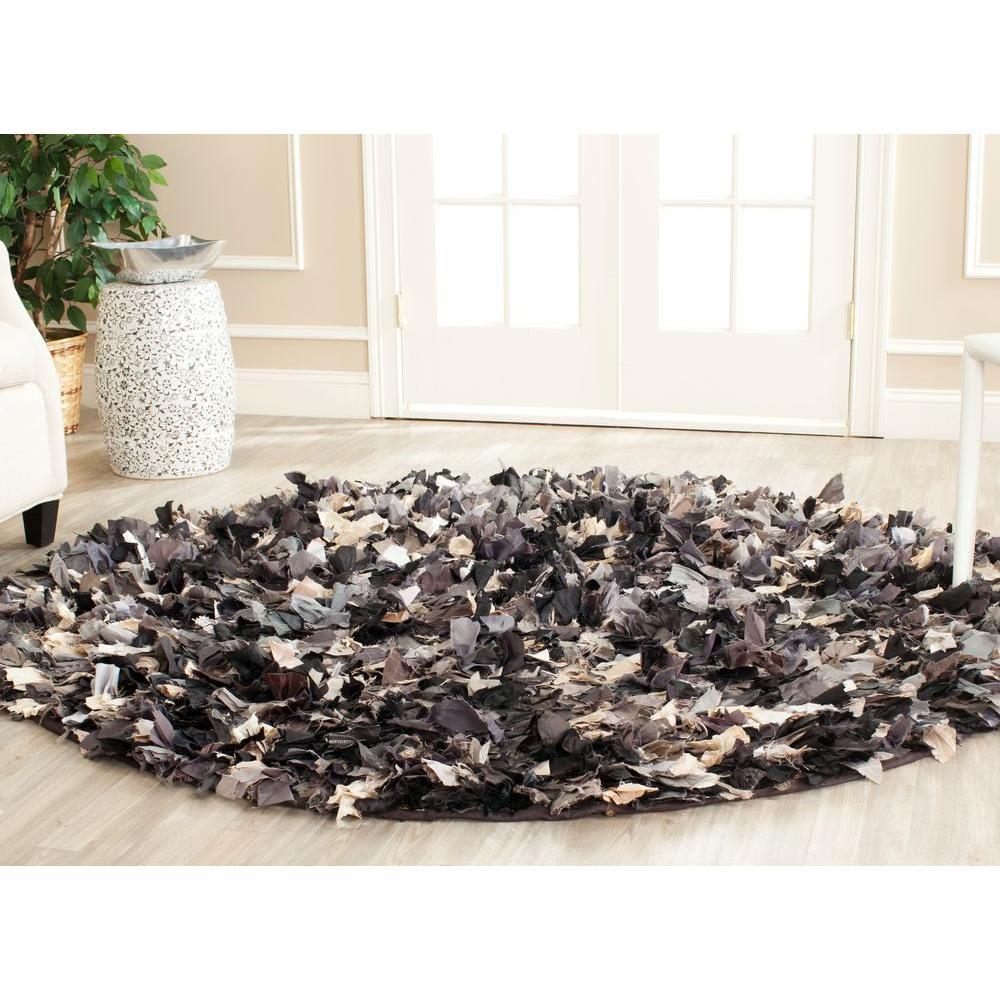 Safavieh Rio Shag GrayMulti 6 ft x 6 ft Round Area Rug  : gray multi safavieh area rugs sg951d 6r 641000 from www.homedepot.com size 1000 x 1000 jpeg 137kB