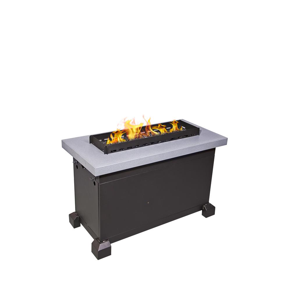 Camp Chef Monterey Propane Gas Fire Pit in Gray with Windscreen