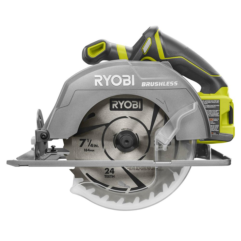 Ryobi 18 volt one 7 14 in circular saw bare tool p508 the circular saw bare greentooth