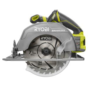 Ryobi 14 amp 7 14 in circular saw with laser csb135l the home circular saw tool only greentooth Gallery