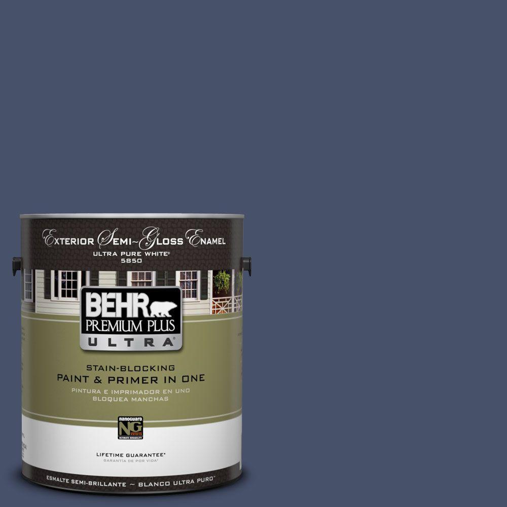 BEHR Premium Plus Ultra 1-Gal. #UL240-23 Vintage Velvet Semi-Gloss Enamel Exterior Paint