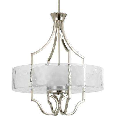 Caress Collection 3-Light Polished Nickel Foyer Pendant