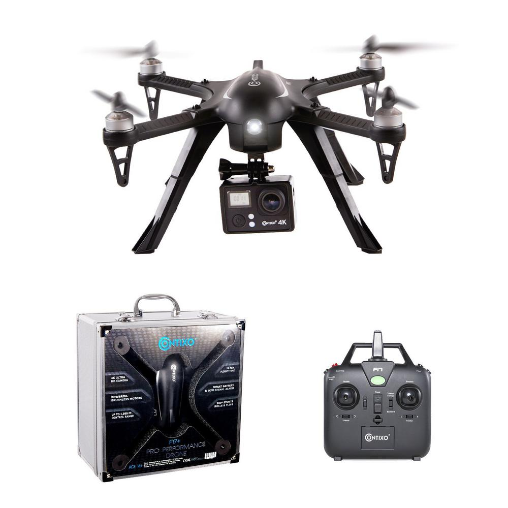 CONTIXO F17+ RC Quadcopter Photography Drone 4K Ultra HD Camera 16MP, Brushless Motors, 1 High Capacity Battery w/ Camera Mount