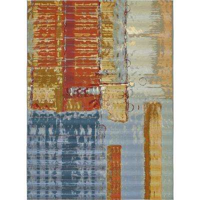Solid Multi Colored Outdoor Rugs Rugs The Home Depot