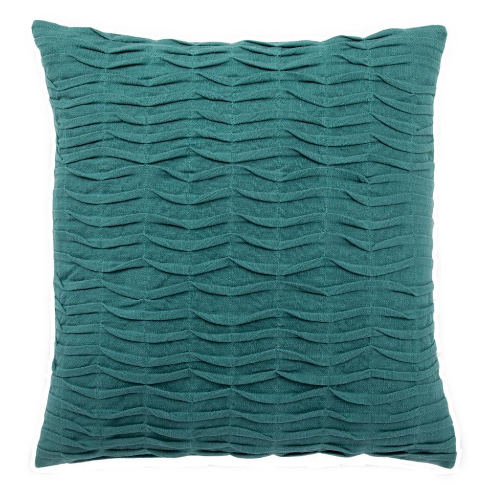 Petal Green-Blue Slate Downfill Decorative Pillow
