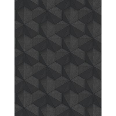 Tri-Hexagonal Black Paper Strippable Roll (Covers 57 sq. ft.)