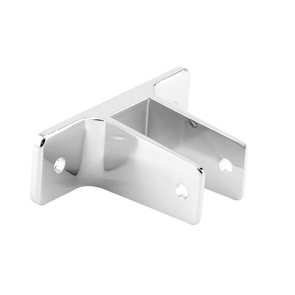 1 in. Chrome Zinc Alloy (Cast Zamak) Construction 2-Ear Restroom Partition Bracket