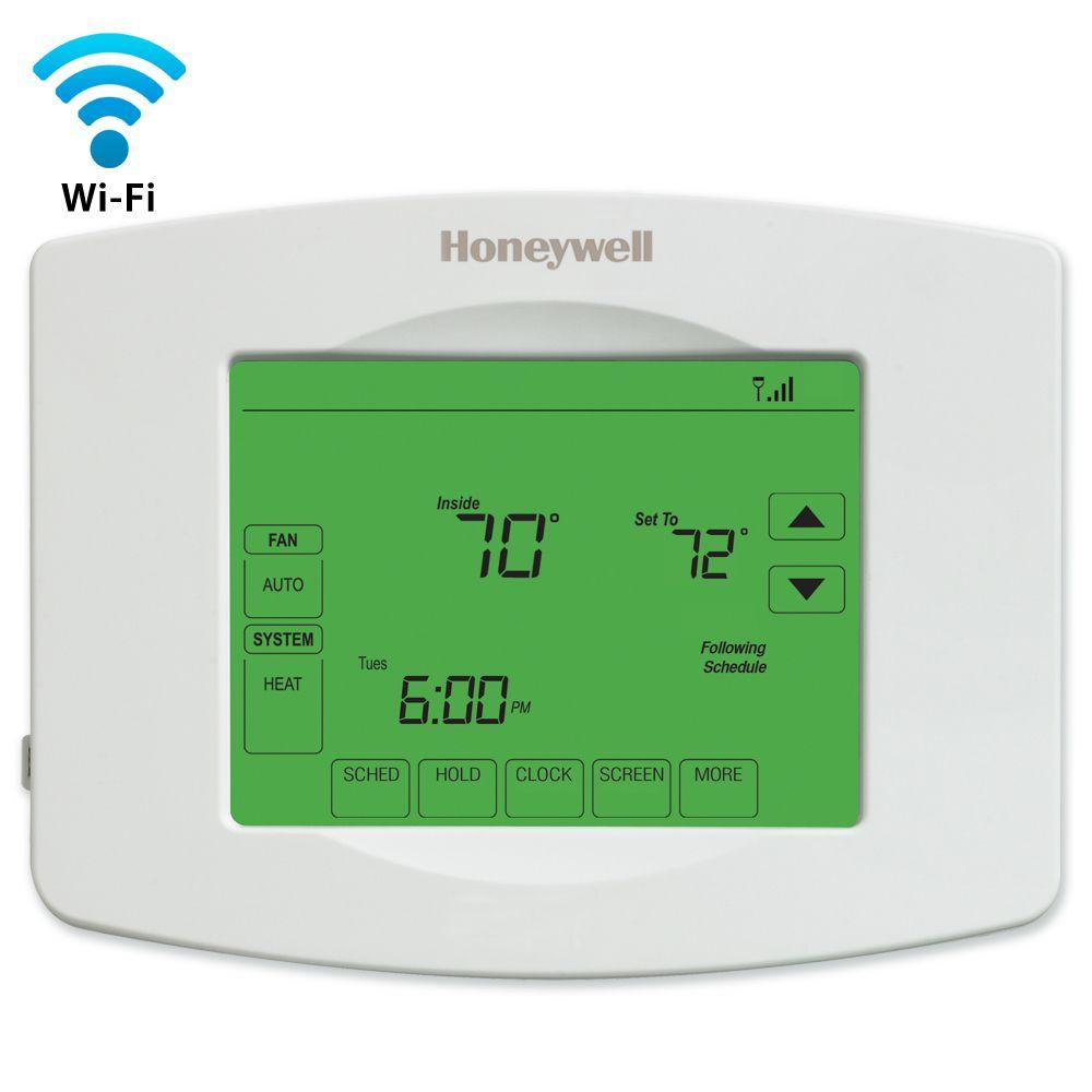 Furnace Honeywell Thermostat Manual Browse Guides Focuspro 6000 Wiring Diagram Block Wi Fi Programmable Touchscreen Free App Rh Homedepot Com Old Thermostats Heat Pump