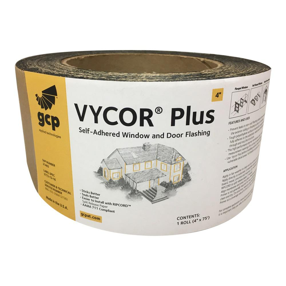 Vycor Plus 4 in. x 75 ft. Roll Fully-Adhered Flashing