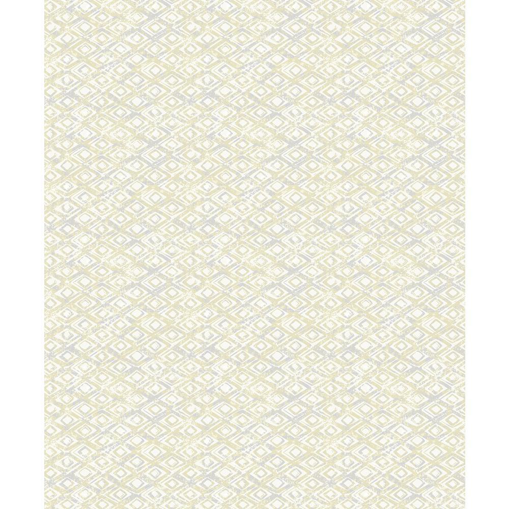 Delilah Light Yellow Diamond Wallpaper Sample