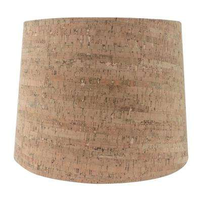 15 in. W x 11 in. H Cork Hardback Empire Lamp Shade
