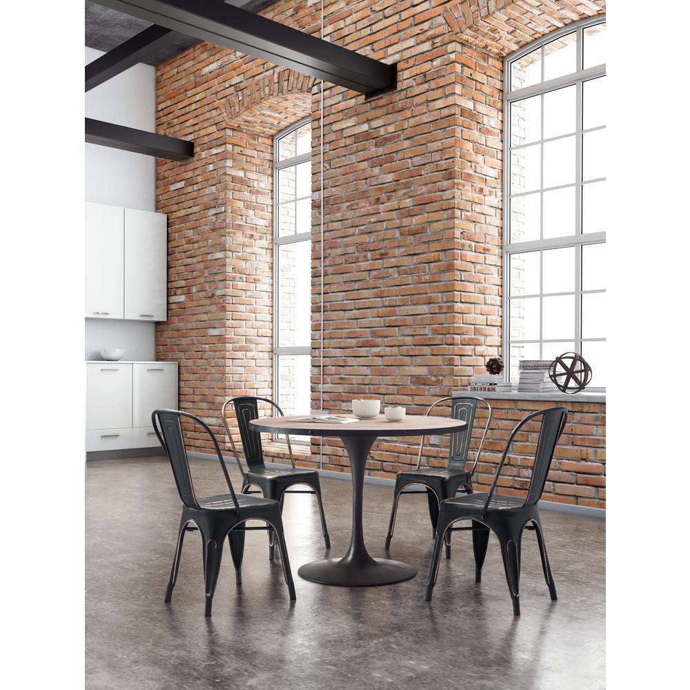 Elio Black Gold Dining Chair (Set of 2)