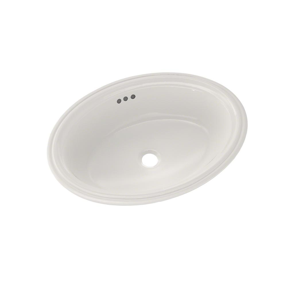 toto dartmouth 17 in undermount bathroom sink in colonial 20996