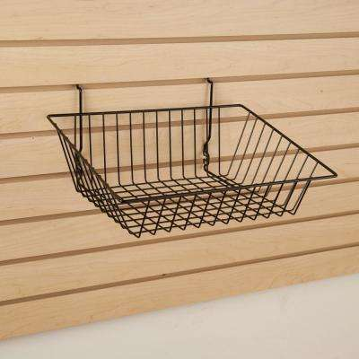 15 in. W x 12 in. D x 5 in. H Black Sloping Basket