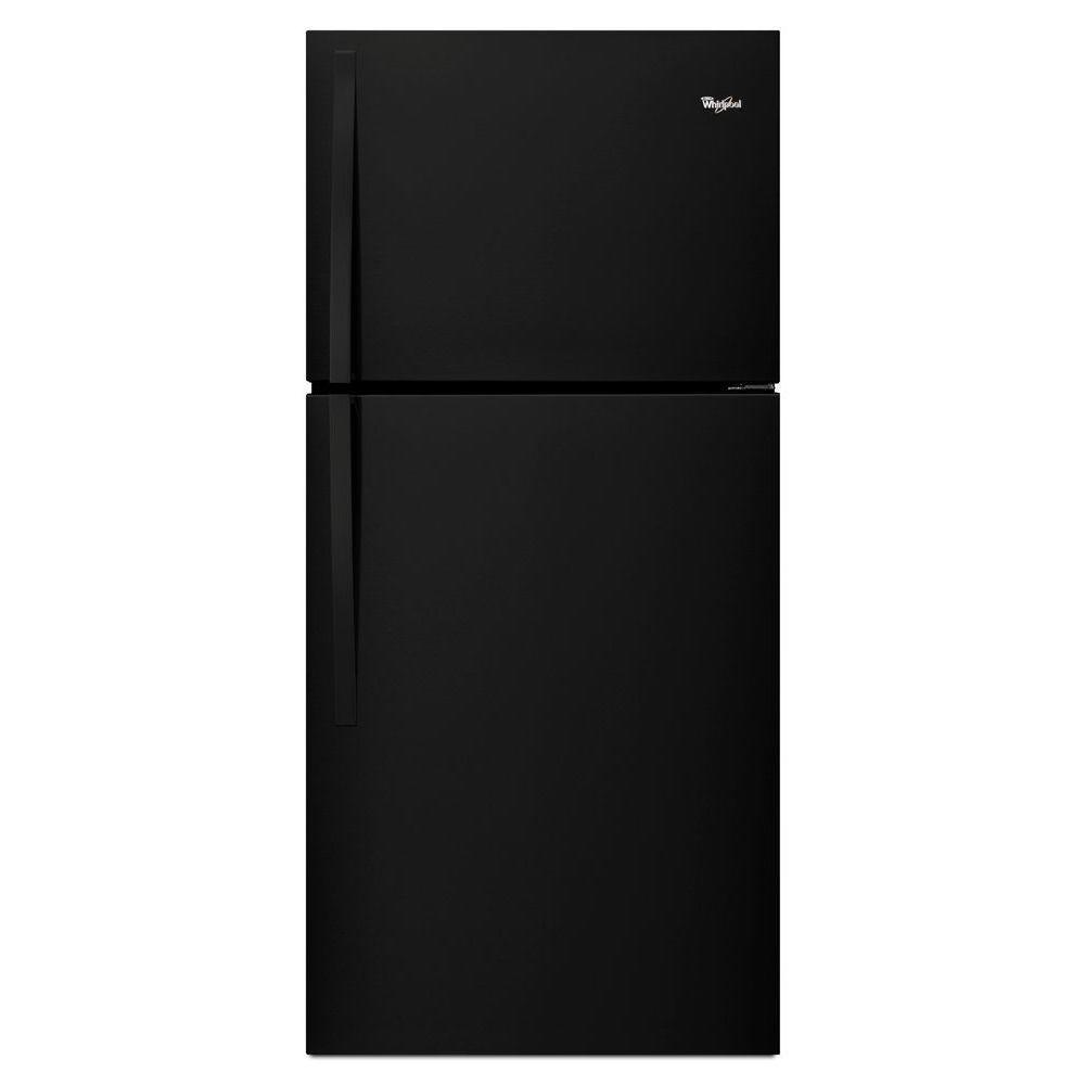 Whirlpool 30 in. W 19.2 cu. ft. Top Freezer Refrigerator in Black