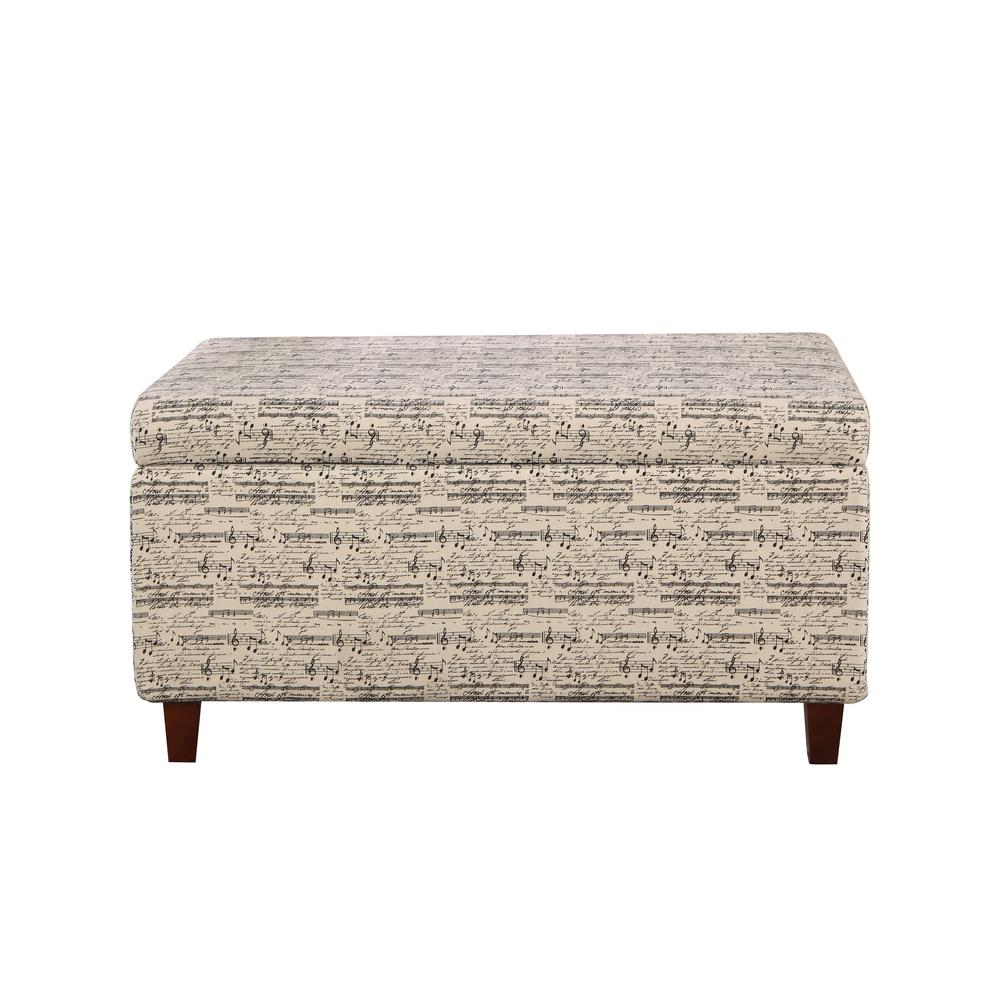 Multi Colored Symphony Patterned Deep Storage Ottoman