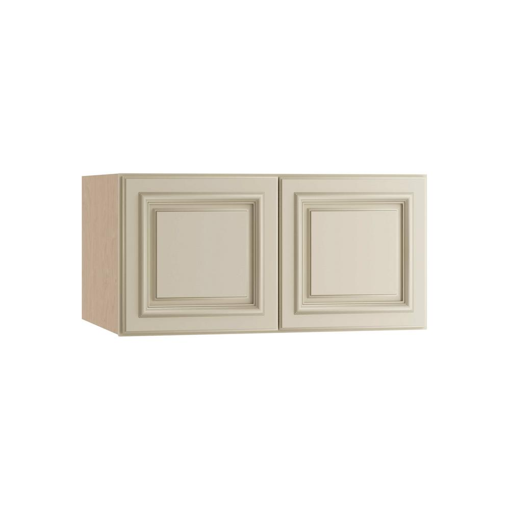 Home Decorators Collection Holden Assembled 30x18x24 in. Double Door Wall Kitchen Cabinet in Bronze Glaze