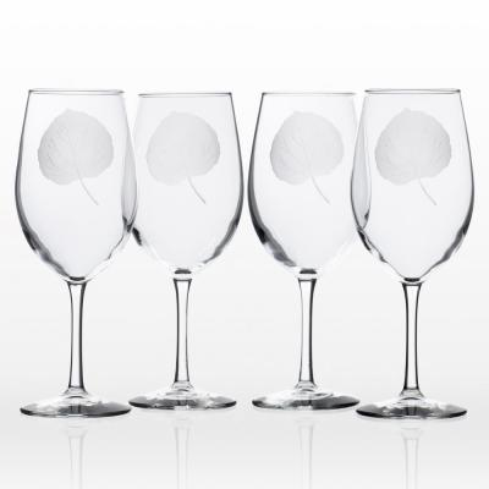 Aspen Leaf 18 oz. Clear All Purpose Wine (Set of 4)