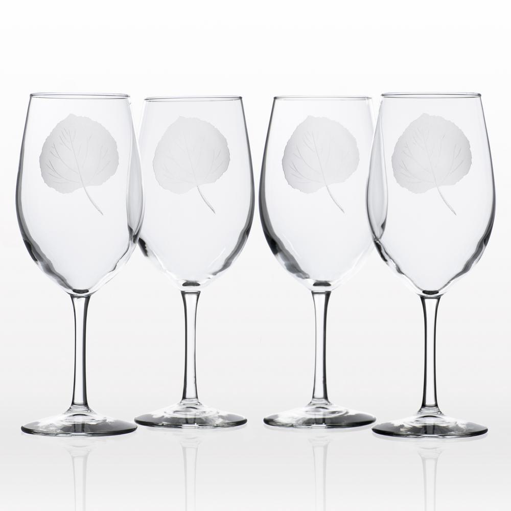 Rolf Glass Aspen Leaf 18 oz. Clear All Purpose Wine (Set of 4)