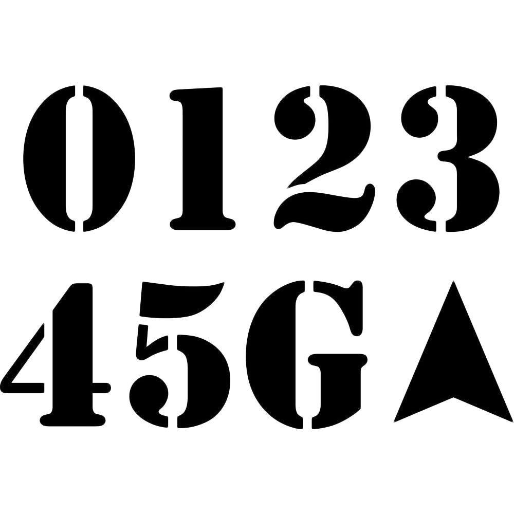 Stencil Ease 36 In Ball Field Stencil Set Cc0800a36 The
