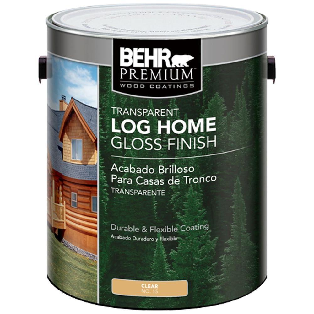 BEHR Premium 1 gal. Clear Gloss Finish Log Cabin Home