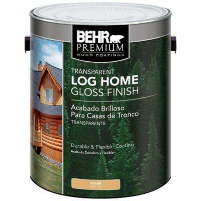 1 gal. Clear  Gloss Finish Log Home