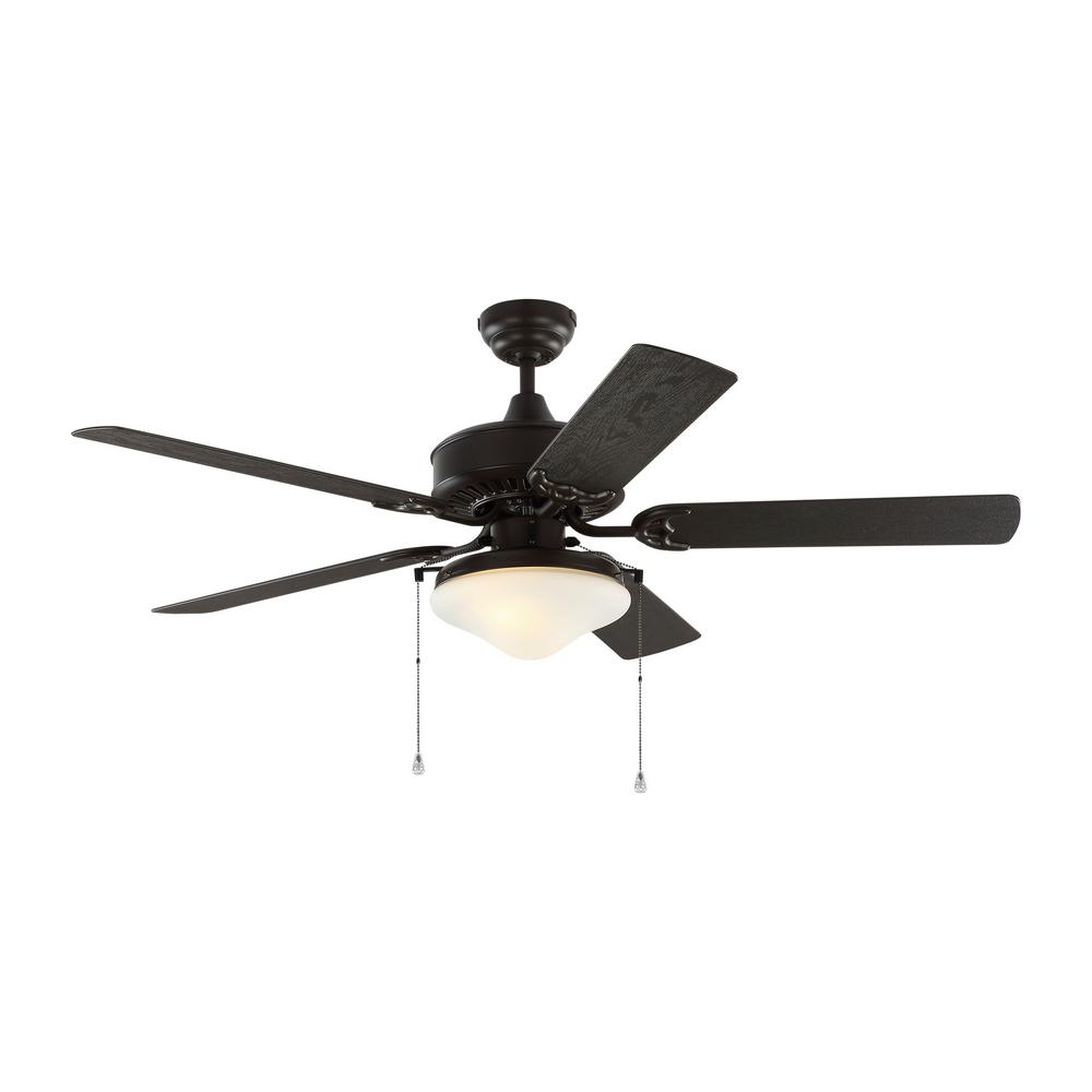 Monte Carlo Haven 52 in. Outdoor Bronze LED Ceiling Fan with Light Kit