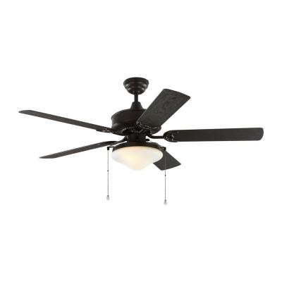 Haven 52 in. Outdoor Bronze LED Ceiling Fan with Light Kit