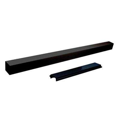 6 ft. Aluminum Standard Stair Picket and Spacer Kit in Black