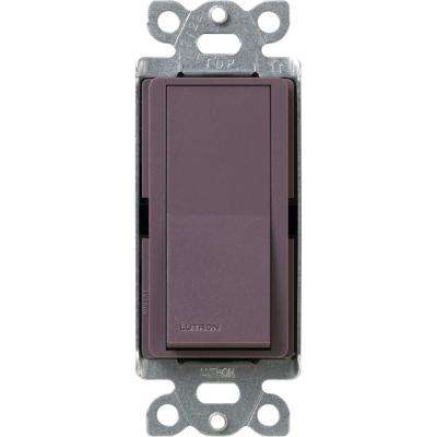 Claro 15 Amp 3-Way Rocker Switch, Plum