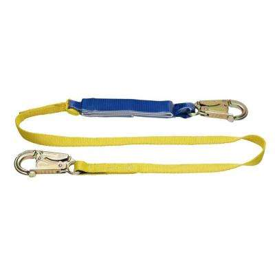 Upgear 6 ft. DeCoil Lanyard (DCELL Shock Pack, 1 in. Web, Snap Hook)