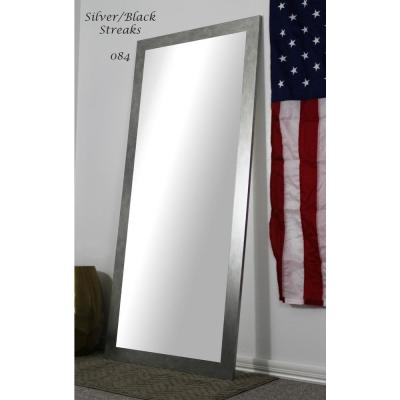 70.5 in. x 31.5 in. Silver/Black Streaks Full Body/Floor Length Vanity Mirror