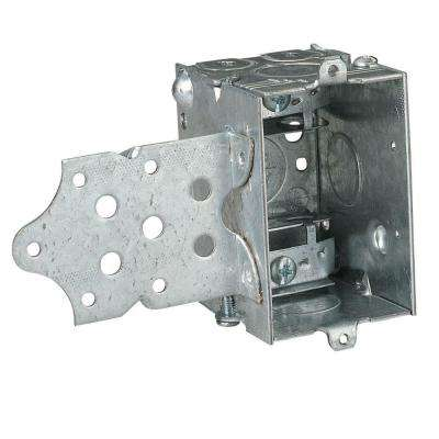 1-Gang 18 cu. in. Pre-Galvanized Steel Gangable Switch Box (Case of 25)