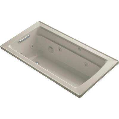 Archer 5 ft. Acrylic Rectangular Drop-in Whirlpool Bathtub in Sandbar