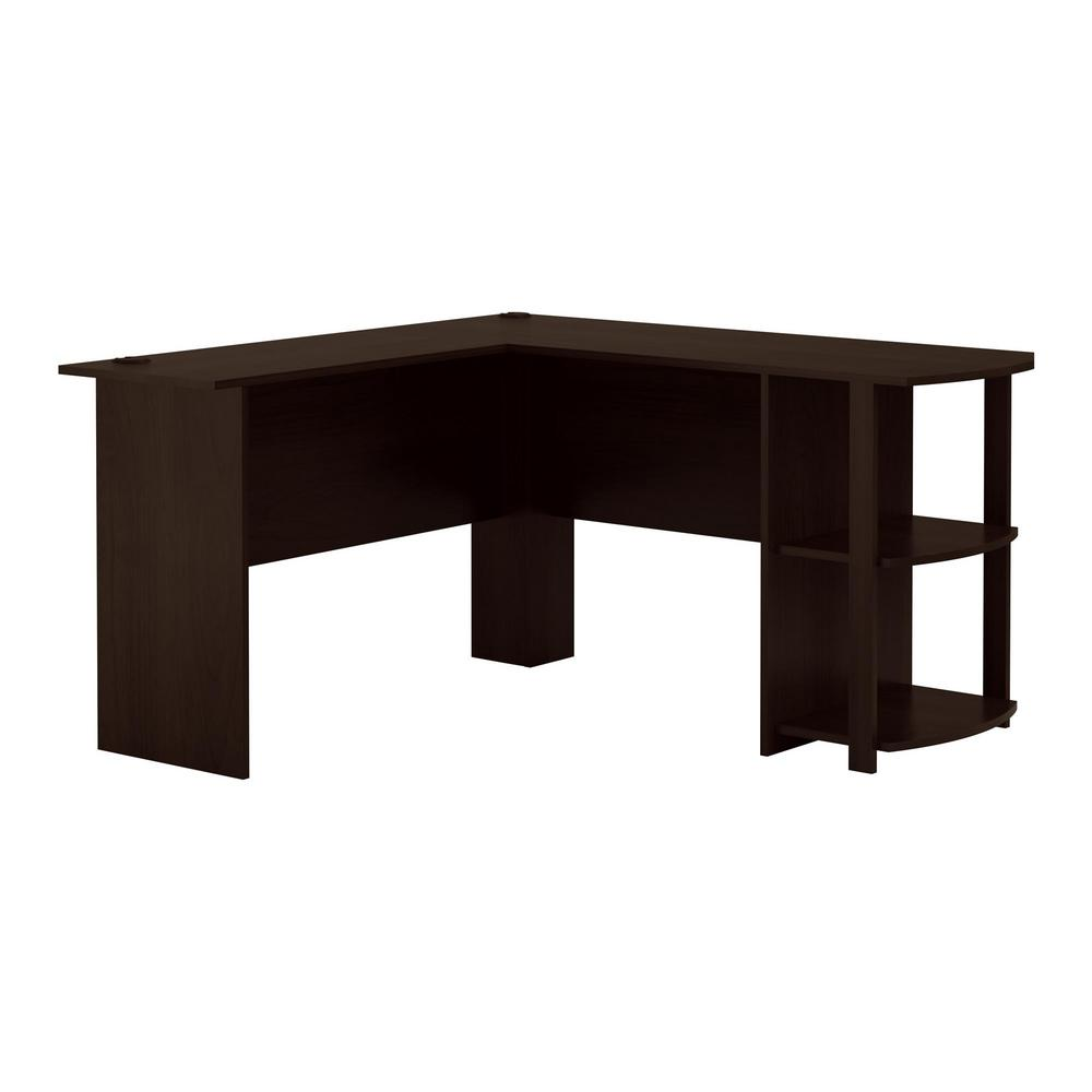 Ameriwood Home Quincy Espresso L-Shaped Desk-HD88558 - The Home Depot
