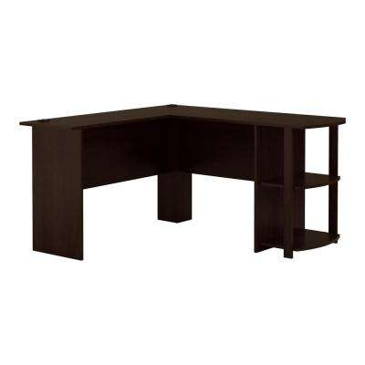 Quincy Espresso L Shaped Desk