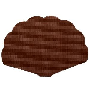 Kraftware Fishnet Shell Placemat in Chocolate (Set of 12) by Kraftware