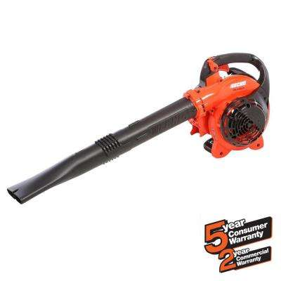 191 MPH 354 CFM 25.4cc Gas 2-Stroke Cycle Low Noise Handheld Leaf Blower